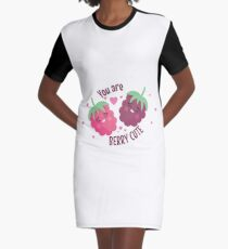You Are Berry Cute | Sweet Romance Graphic T-Shirt Dress