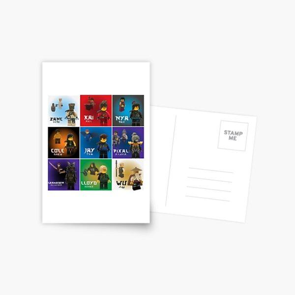 Ninjago Anniversary Poster Postcard