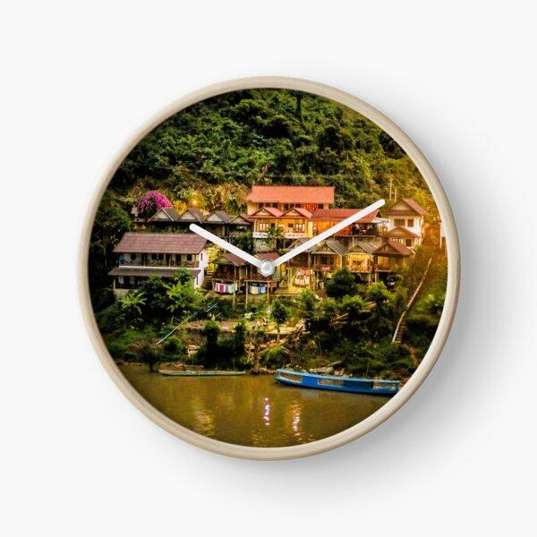 Southeast Asia River Evening Clock