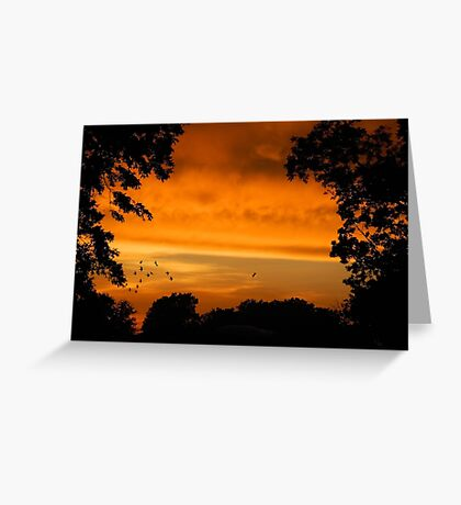 Sunset Storms Greeting Card