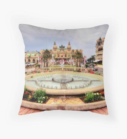 Casino of Monte Carlo Throw Pillow