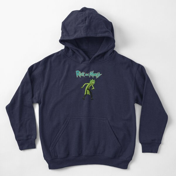 Toxic Rick | Rick and Morty character Kids Pullover Hoodie