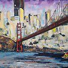 Golden City, Red Bridge, No Gate by edy4sure