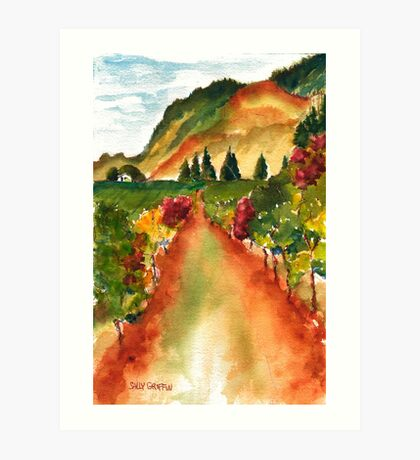 September Vineyard Art Print