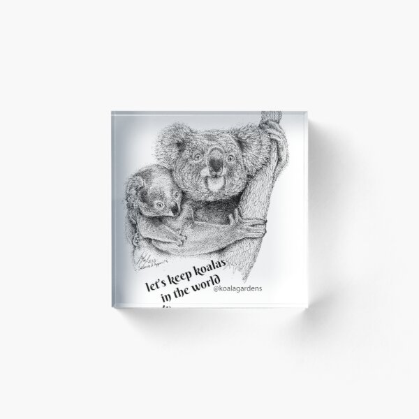 Let's keep koalas in the world Acrylic Block