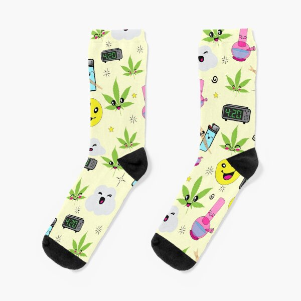 Rasta Weed Design Socks Ankle High Rastafarian Stoner Fashion Stylish