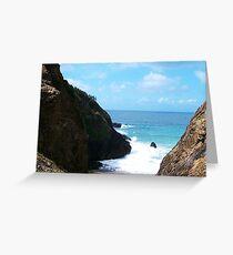 Coffs Harbour, coast Line. Greeting Card