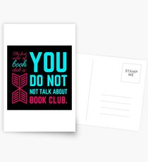 The first rule of book club. Postcards