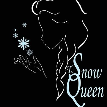 Snow queen´s outline in white by artescultura