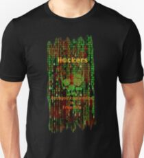 Hacker 1.1 - Knowledge is Freedom skull and matrix - Software, coding and hacking designs Unisex T-Shirt
