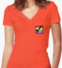 Gay? Tick! Women's Fitted V-Neck T-Shirt