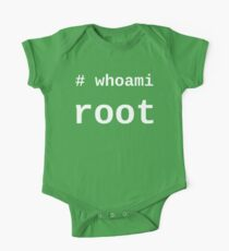 whoami root - White on Black for System Administrators One Piece - Short Sleeve