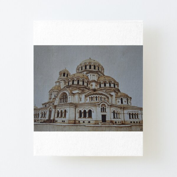 Nevsky Cathedral building pyrography art Canvas Mounted Print