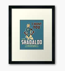 Shadaloo Wants YOU! Framed Print