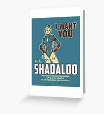 Shadaloo Wants YOU! Greeting Card