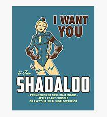 Shadaloo Wants YOU! Photographic Print