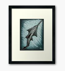 """Sawfish"" by Amber Marine ~ Acrylic painting, art © 2015 Framed Print"