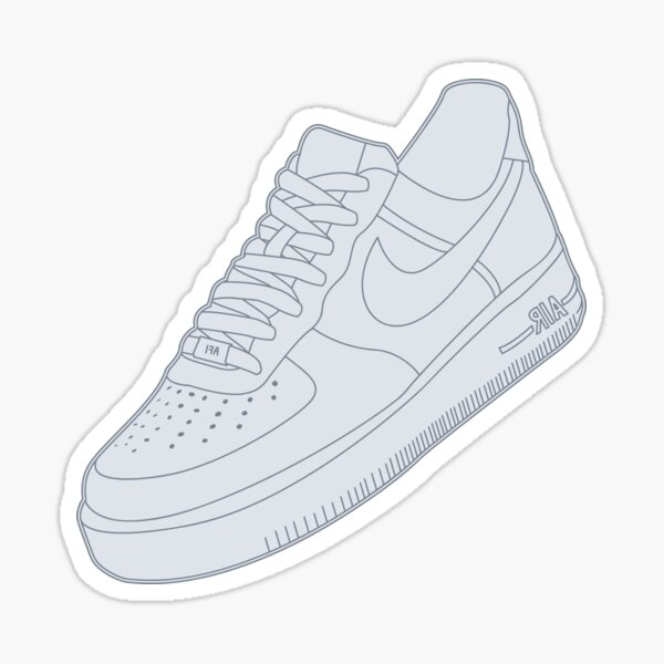 White Air Force Ones Sticker