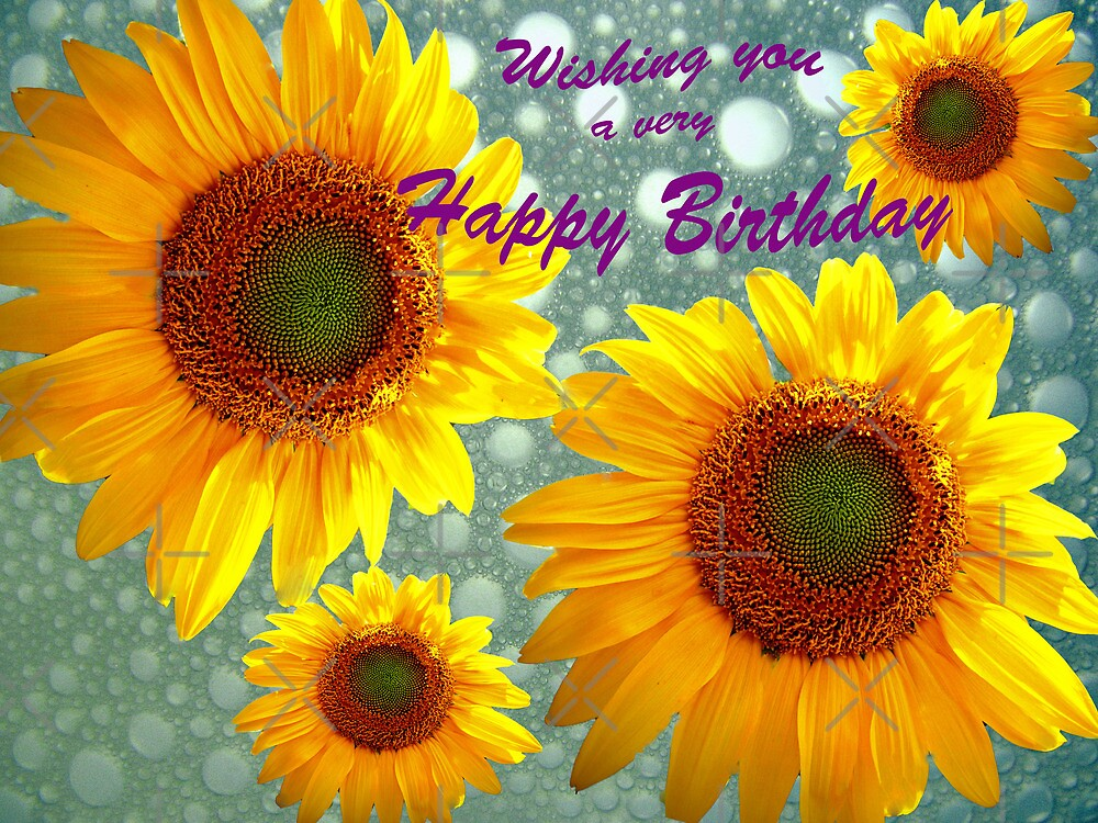 Quot Happy Birthday Sunflowers Quot By Susan S Kline Redbubble