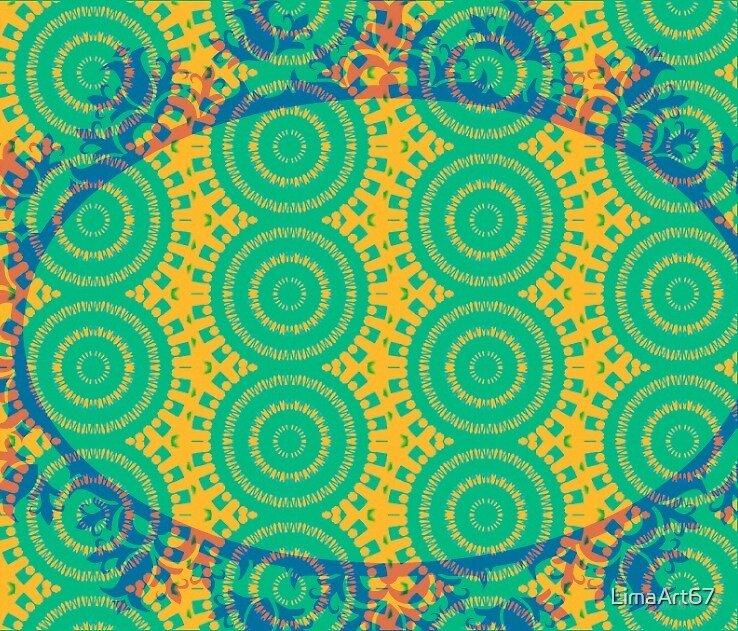 Green Mandalala by E. van de Craats by LimaArt67