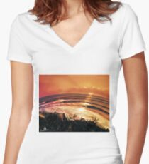 Fish eye Women's Fitted V-Neck T-Shirt