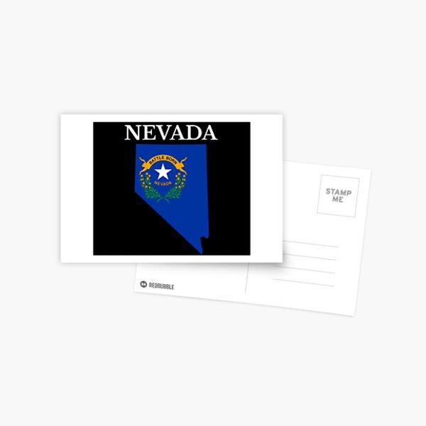 Nevada Flag Map Postcard