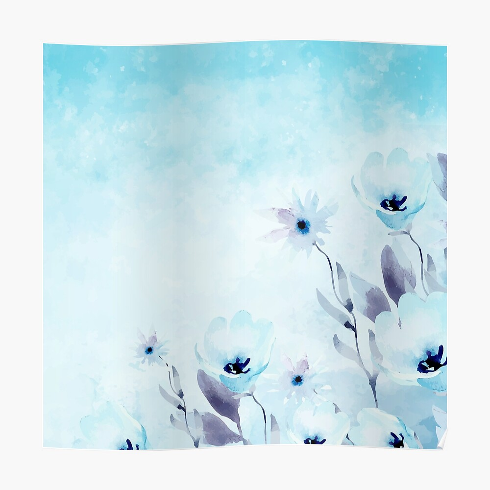 Blue Flowers Watercolor Greeting Card By Radoiflorin Redbubble