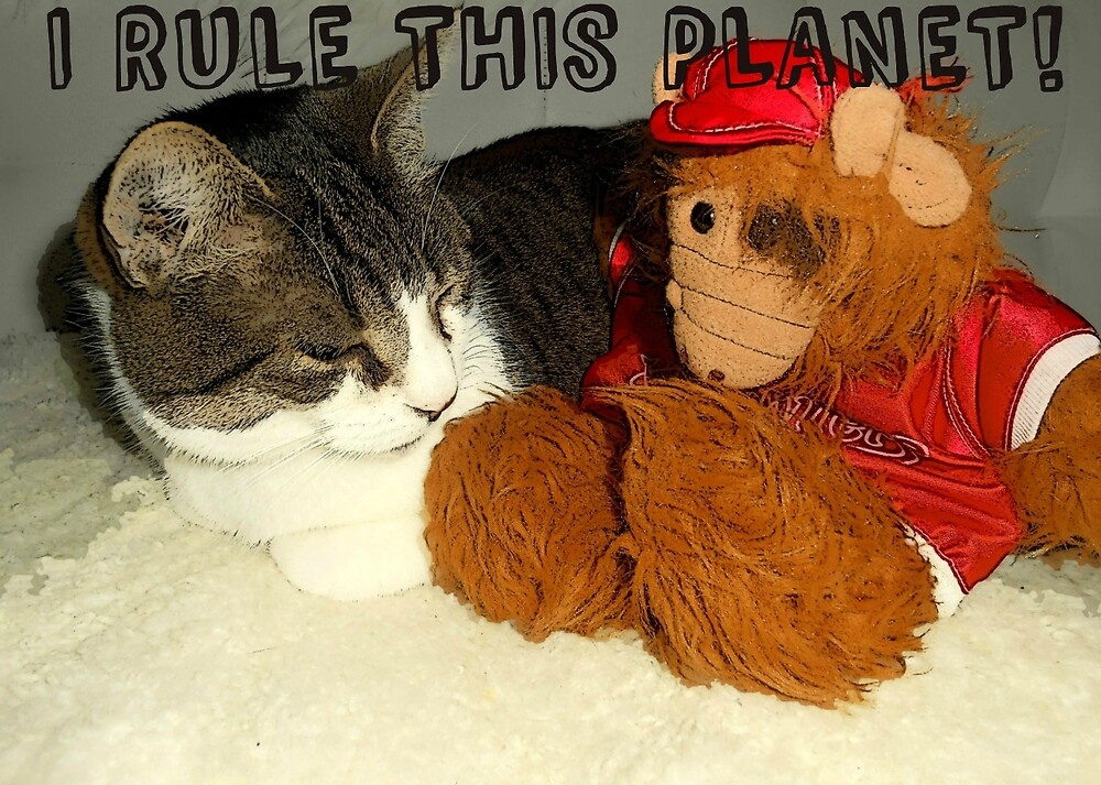"""""""I Rule This Planet"""" Cat Vs Alf Puppet by smilku"""
