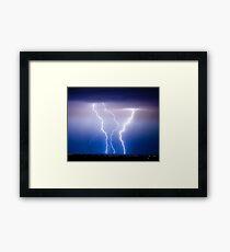 Triple Lightning Bolts Framed Print