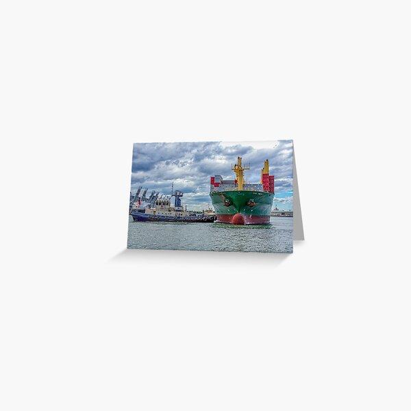 Tug boats at work  Greeting Card