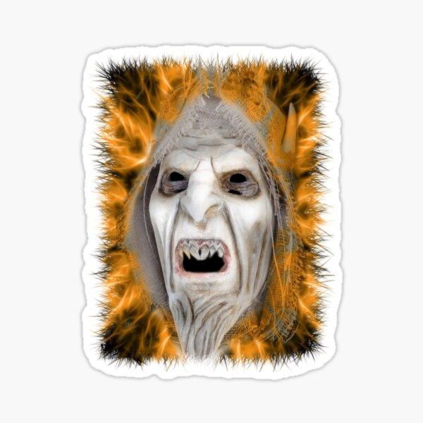 Fiery Skull Sticker