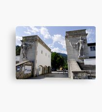entrance to winter sports Canvas Print