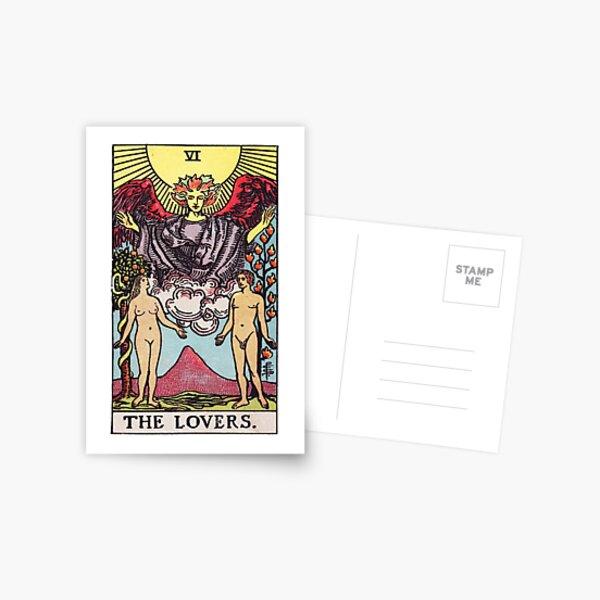 Tarot - The Lovers Card Postcard
