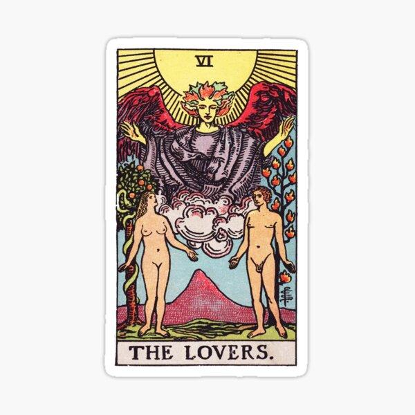 Tarot - The Lovers Card Sticker