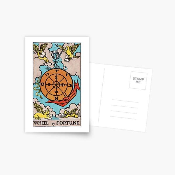 Tarot - Wheel of Fortune Card Postcard