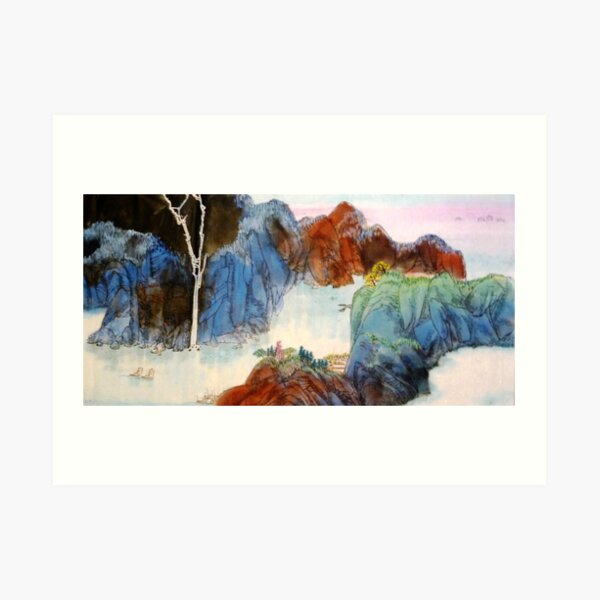Ageless Chinese landscape Art Print