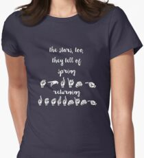 The stars, too, they tell of spring returning - Spring Awakening Women's Fitted T-Shirt