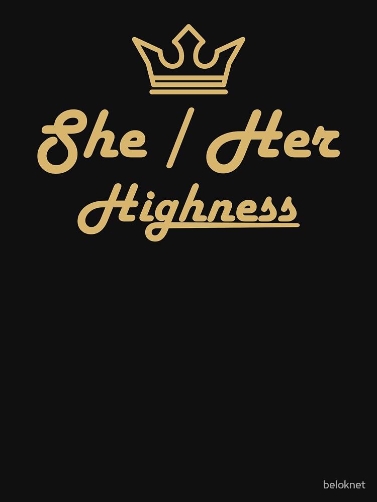 She/Her Preferred Pronouns by beloknet
