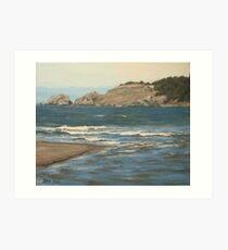 River Meets the Sea Art Print