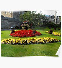 Garden in Pitlochry, Scotland Poster