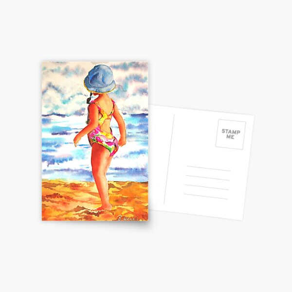 Girl on Beach (sold) Postcard