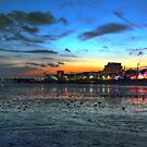 Sunset over Southend on Sea by Peter Tachauer