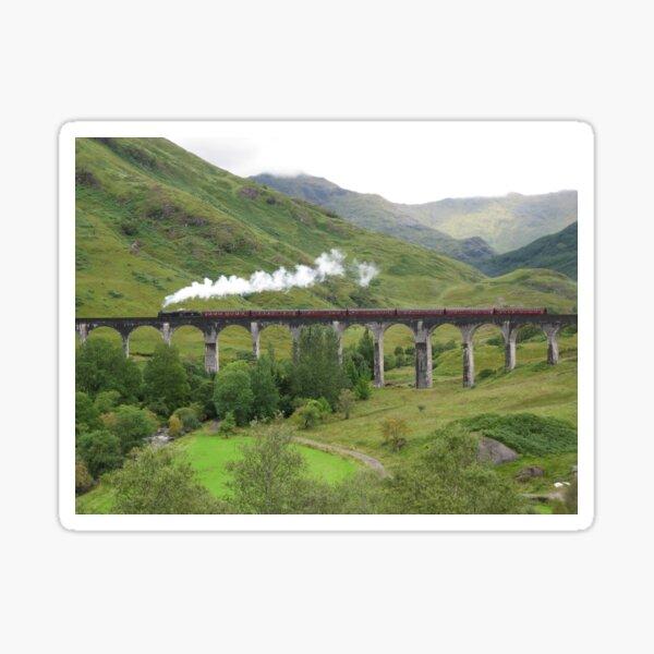 Steam train over Glenfinnan Sticker
