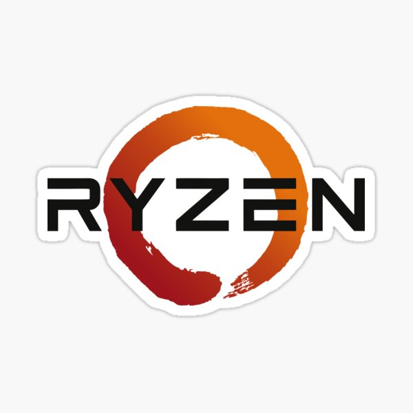 Best Seller - Amd Ryzen Logo Merchandise Sticker