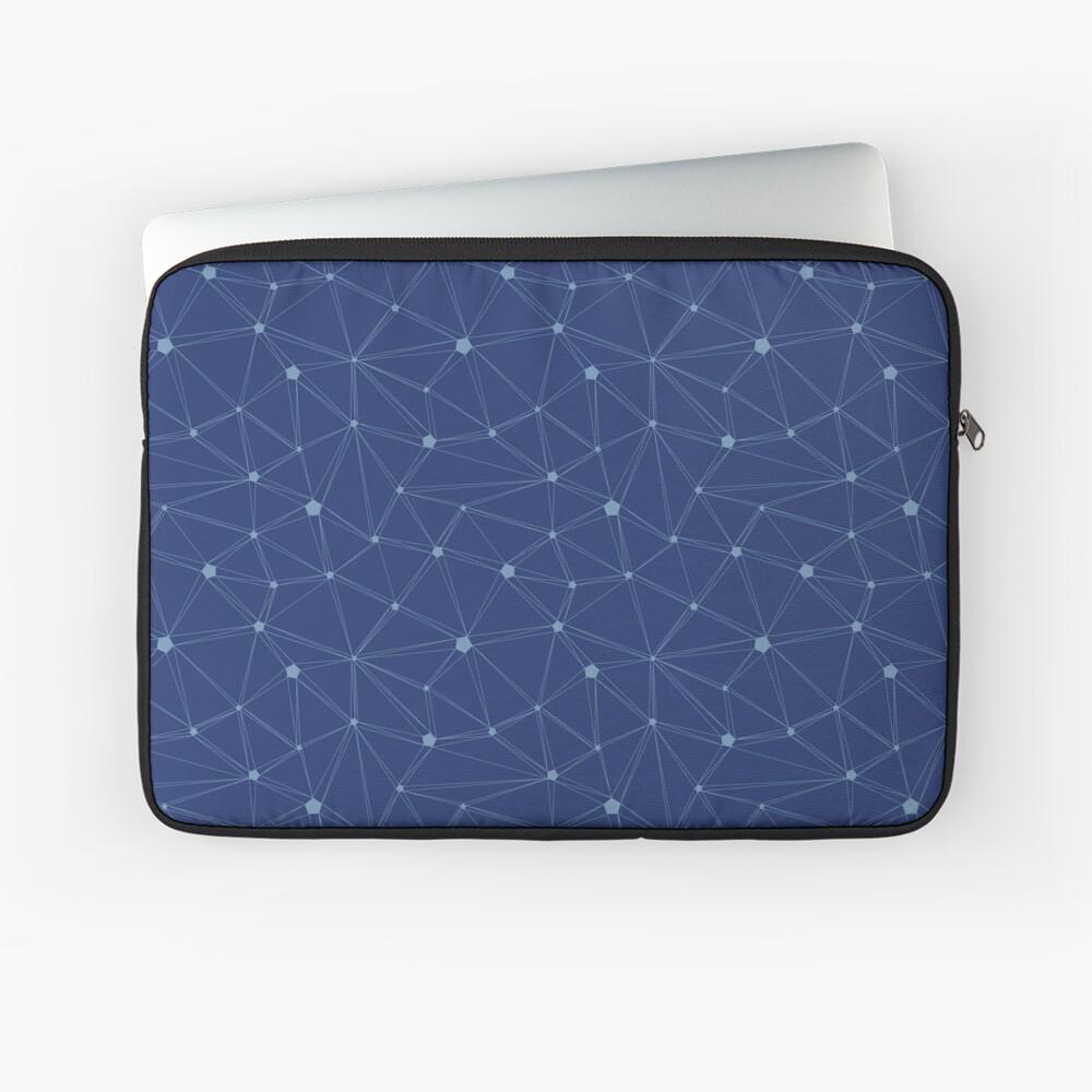 Pentagon grid classic blue Laptop Sleeve