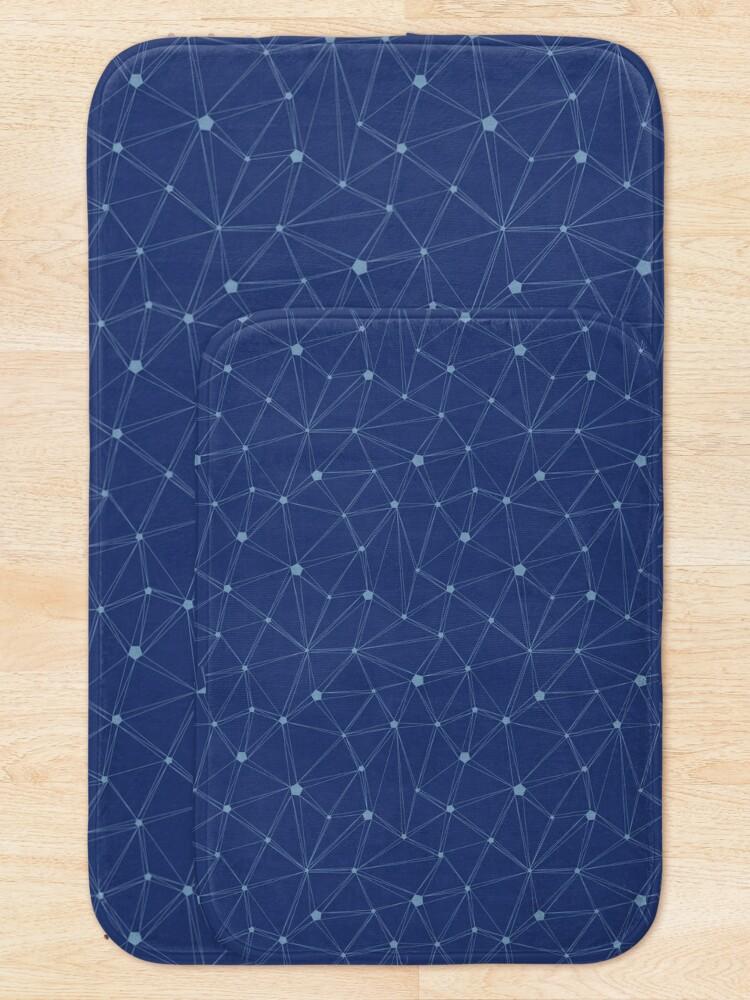 Alternate view of Pentagon grid classic blue Bath Mat