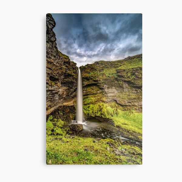 Kvernufoss in Iceland Metal Print