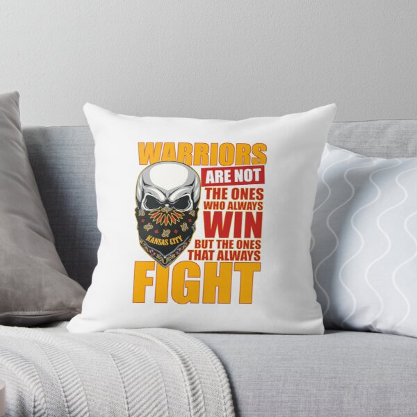 Fight for Kansas City till the end Throw Pillow