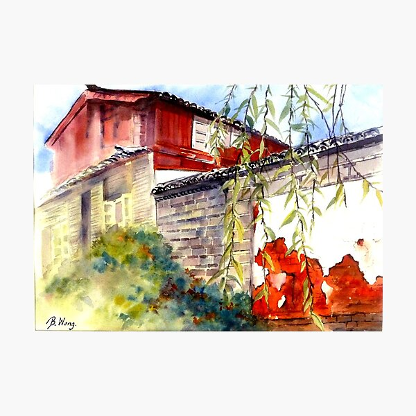 Proud Wall in Lijiang Photographic Print