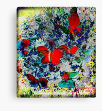 My fervent little butterfly Canvas Print